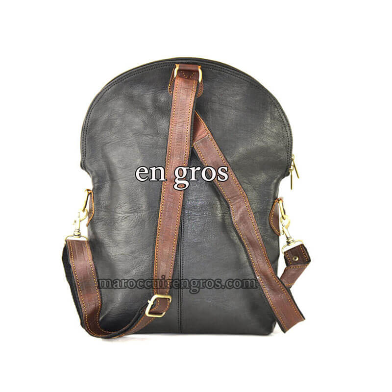 Moroccan Backpack Leather Bag Genuine